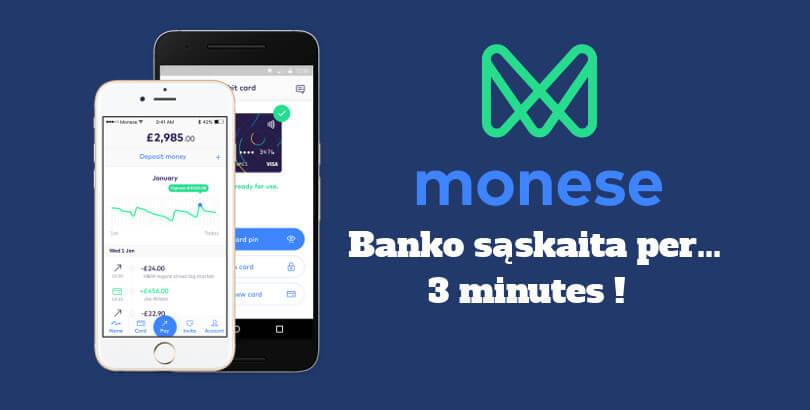 Monese – alternatyva įprastiems bankams