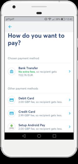 Pinigų siuntimas per Transferwise mobiliąja programėlę