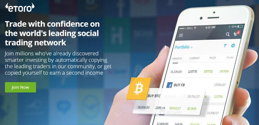 Etoro investavimo platforma