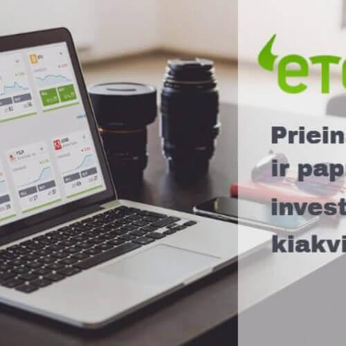 Investavimas su eToro – apžvalga ir patarimai kaip pradėti investuoti