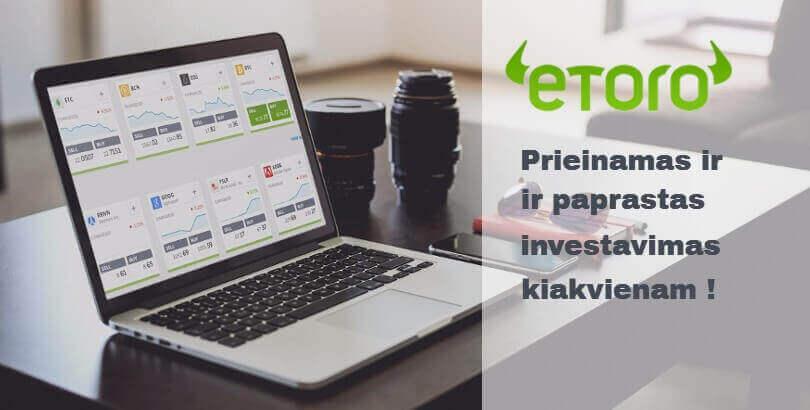 Investavimas su eToro