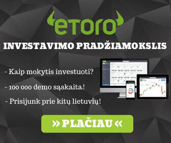 eToro investavimas