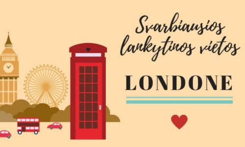 36 Svarbiausios lankytinos vietos Londone