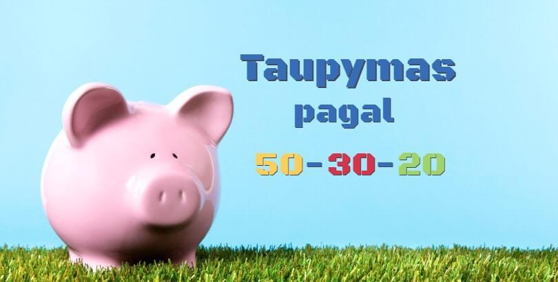 50-30-20 asmeninių finansų valdymo taisyklė. Kaip ji veikia?