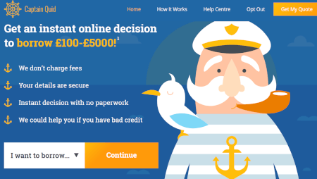 Captain Quid vartojimo paskola UK