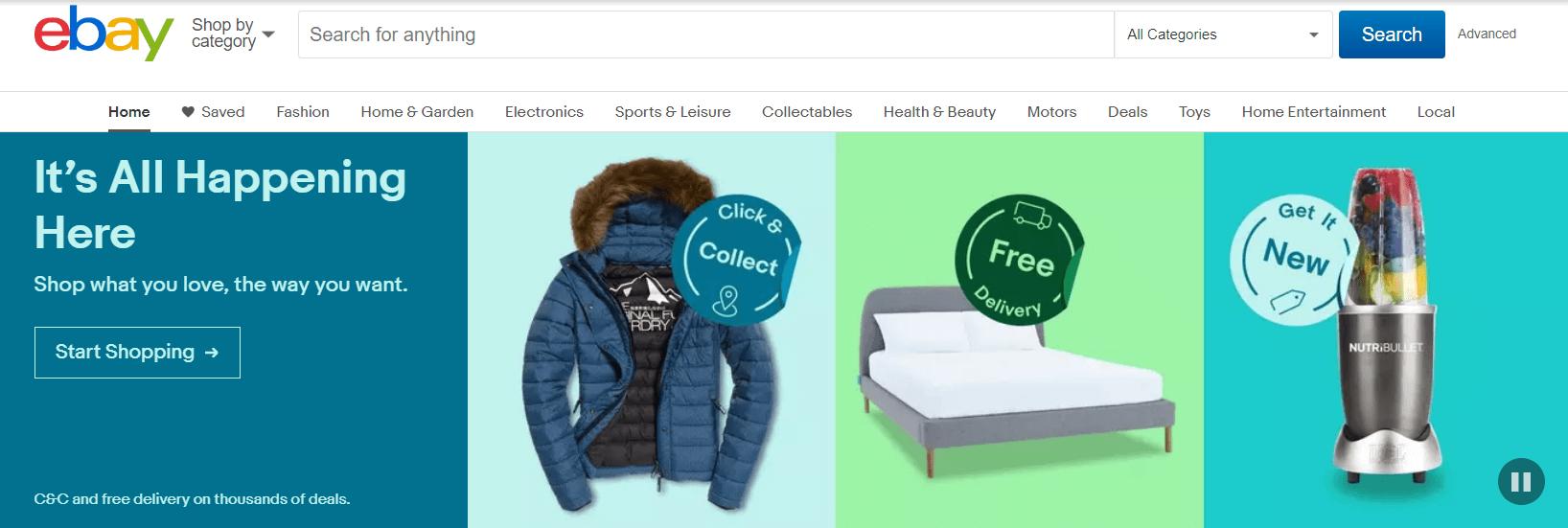 darbas internetu su Ebay