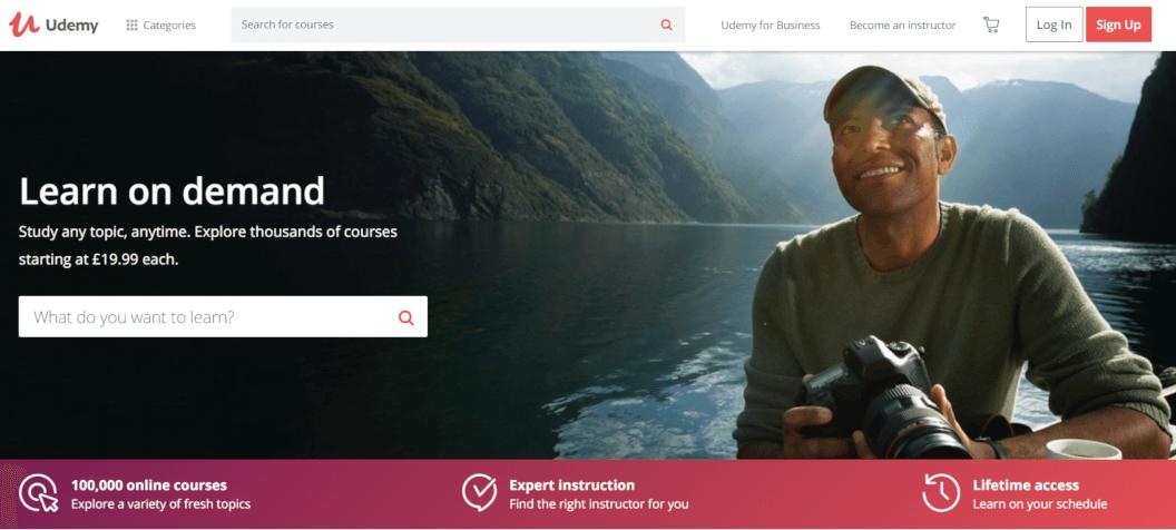 darbas internetu su Udemy