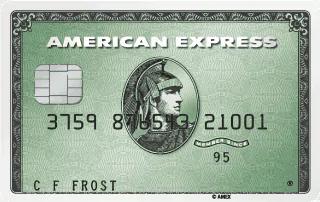 American Exxpres zalia kortelė
