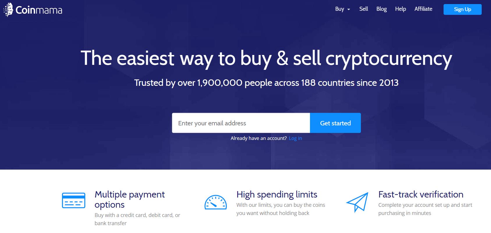 Coinmama kripto valiutos keitykla