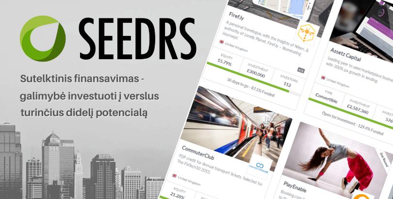 Seedrs sutelktinio finansavimo platforma