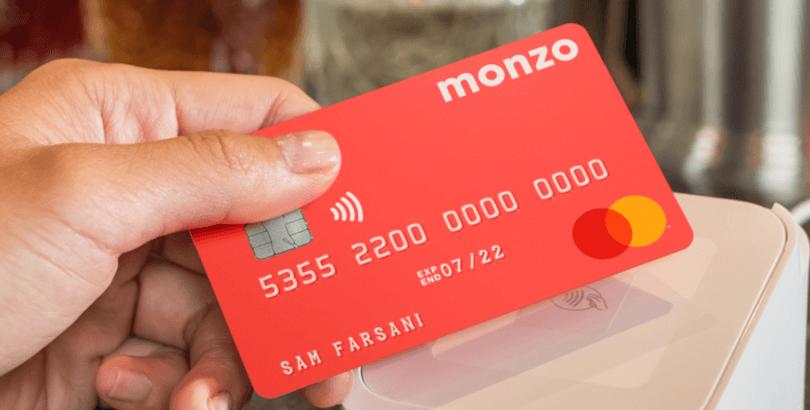 Monzo banko kortelė